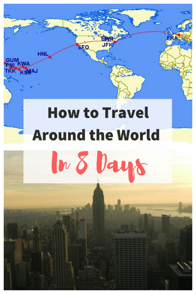 How many long haul #flights can you take in one week - We tested it and flew once around the world in 8 days. The round the world trip took us to the US, Micronesia, #Palau, the Philippines and Germany