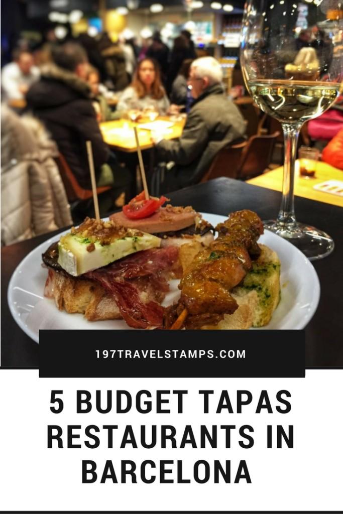Budget Tapas Restaurants in Barcelona pin