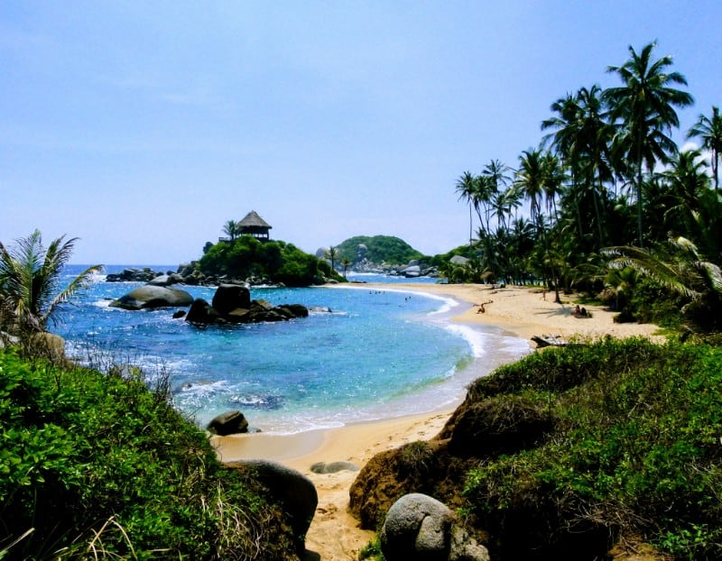 Caribbean coast of Colombia in two weeks Playa Cabo San Juan, Tayrona national park