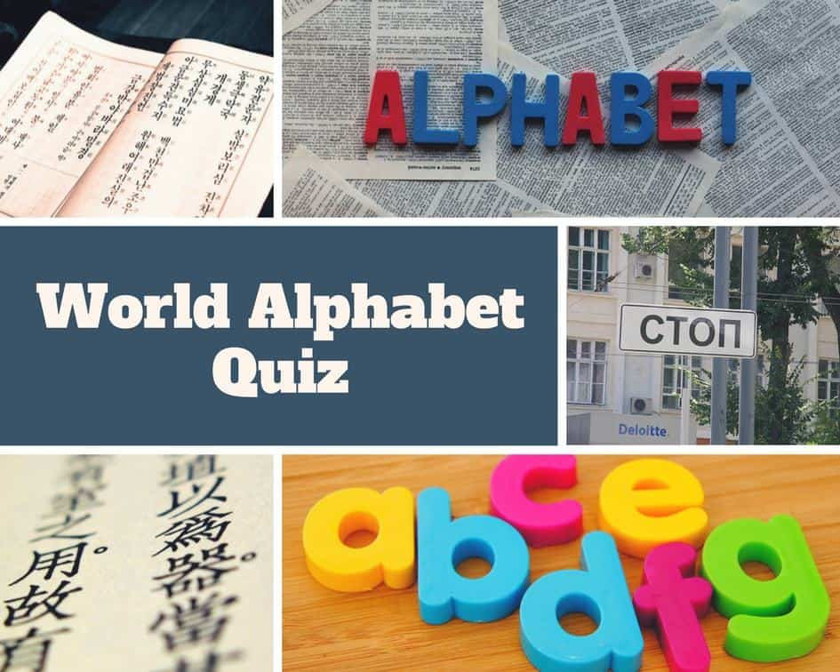 World Alphabet Quiz – Test your knowledge about writing systems