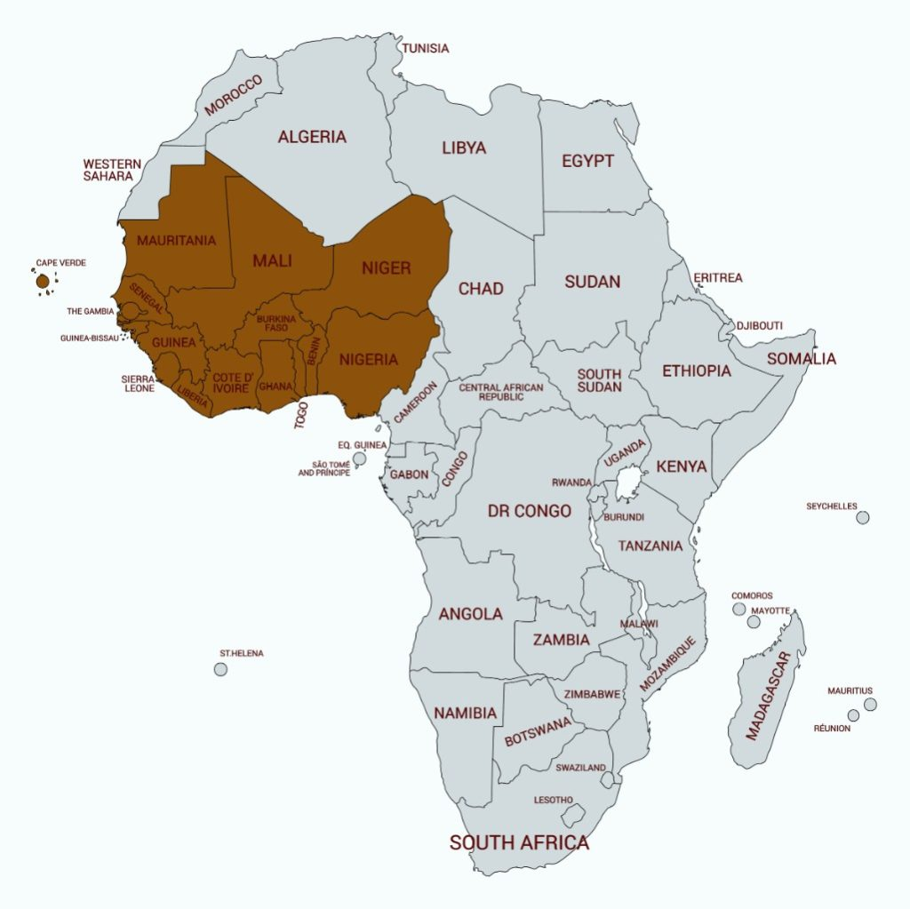 List of West African Countries and Capitals – 197 TravelStamps