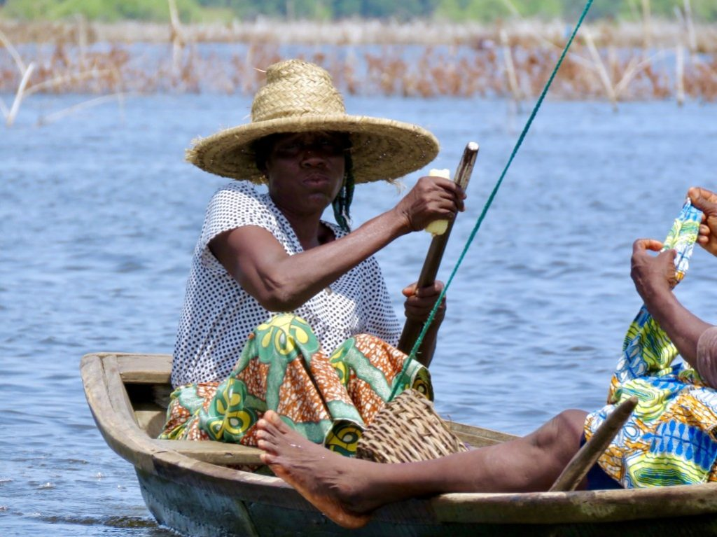 boat in ganvie benin africa togo