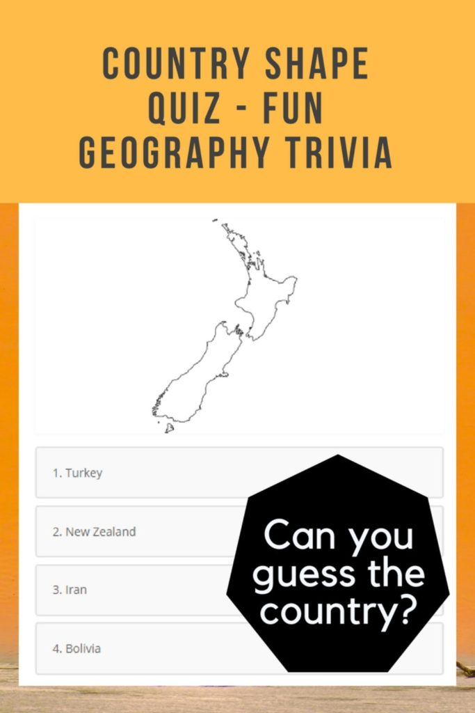 Country Shape Quiz - Geographic Outlines of the World - 197