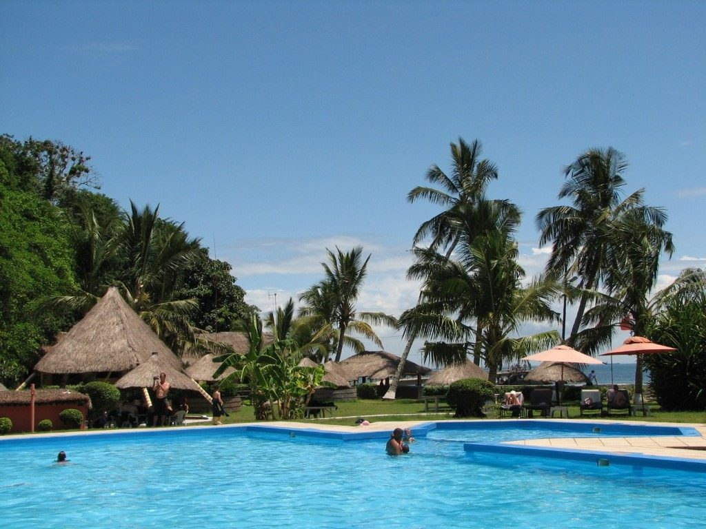 Best beaches near Maputo - Hotel and Pool on Inhaca Island