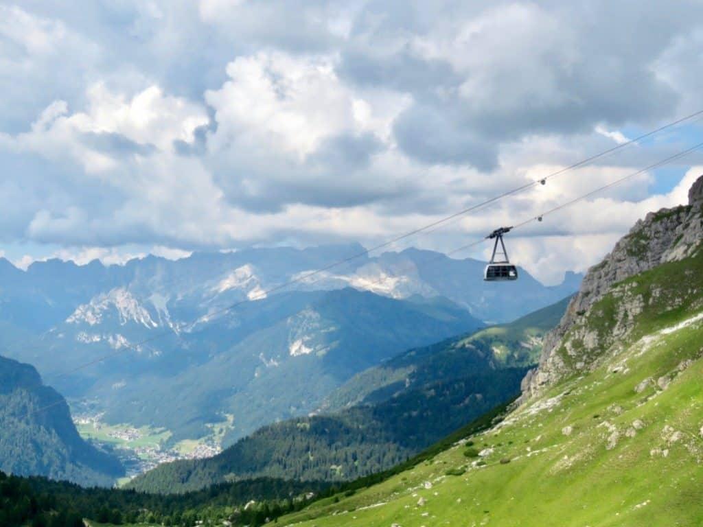 Best hikes in the Dolomites Pordoi cable car to climb Piz Boé