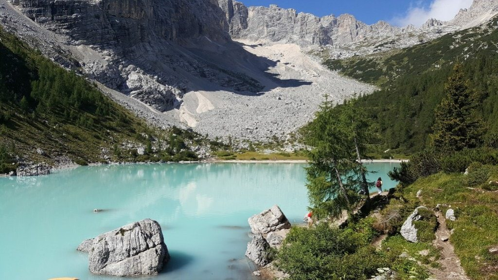 Dolomites Travel Guide - Lake Sorapiss is one of the most beautiful lakes in the Dolomites