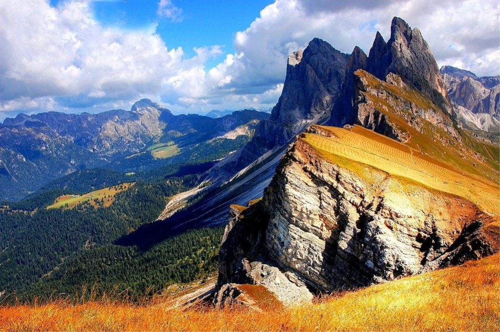 The best of Dolomites - Hiking near the Seceda Mountain