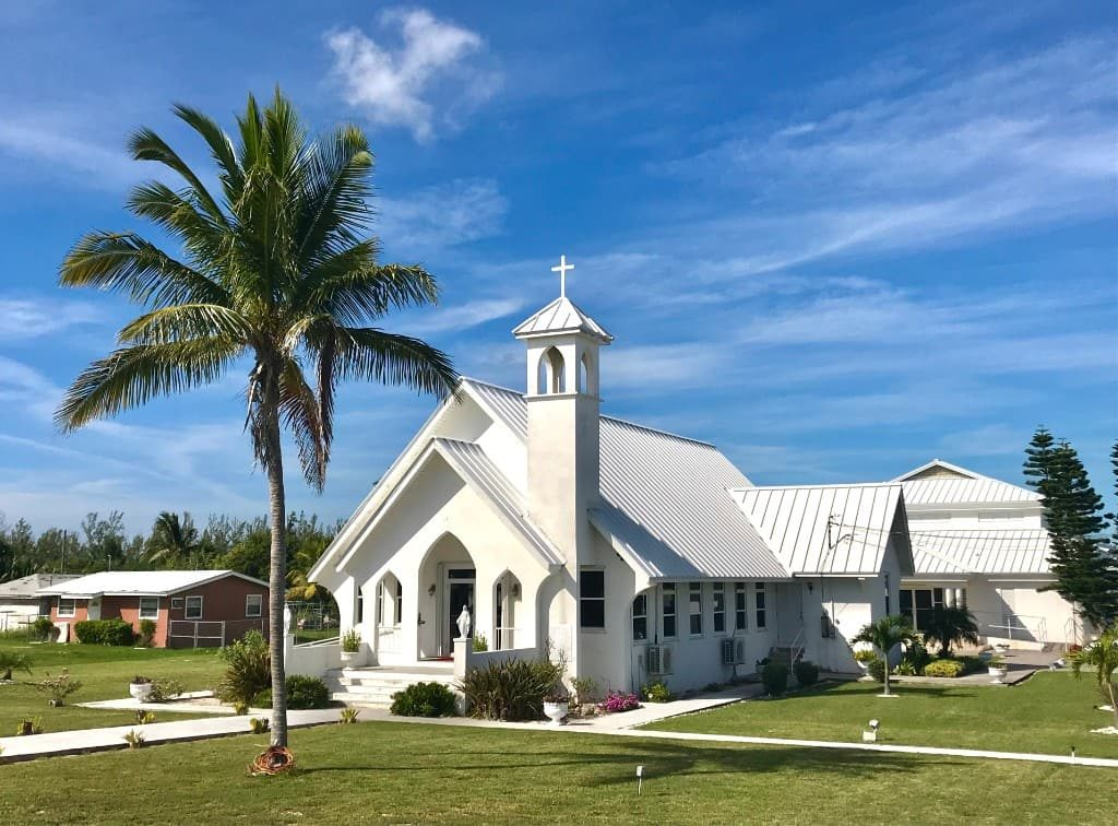 Church on Grand Bahama seen on a day trip