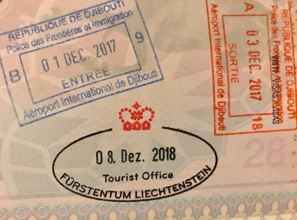 Liechtenstein passport stamp 2018