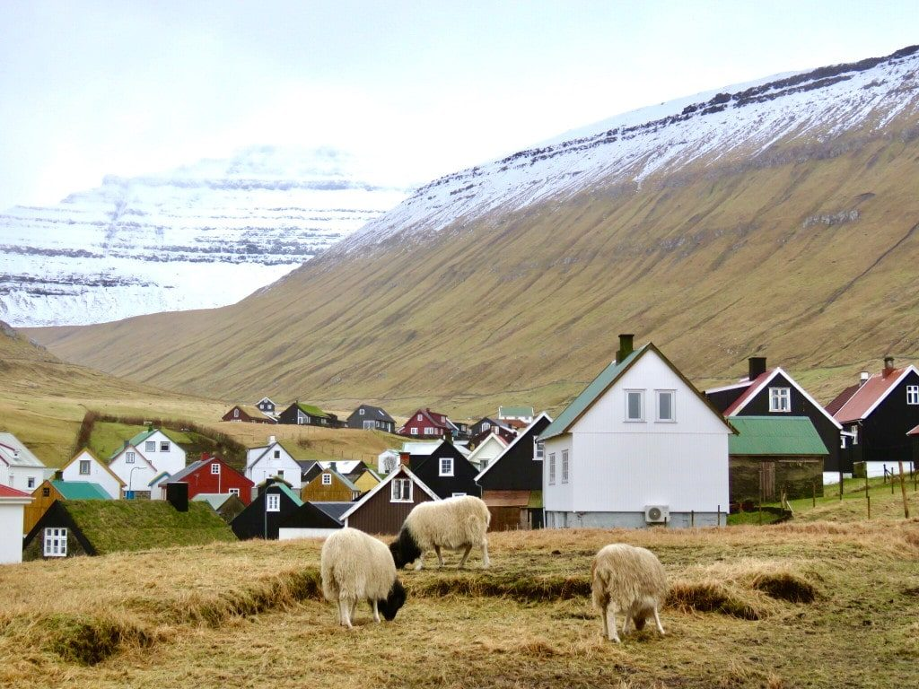 A tiny village in the Faroe Islands