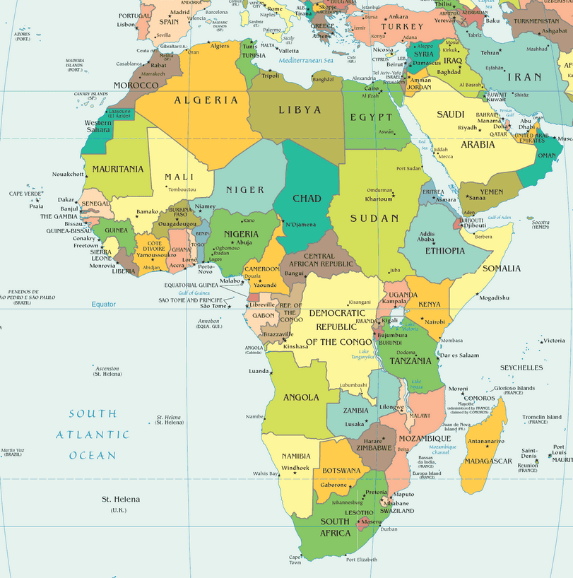 African countries alphabetical with capitals list