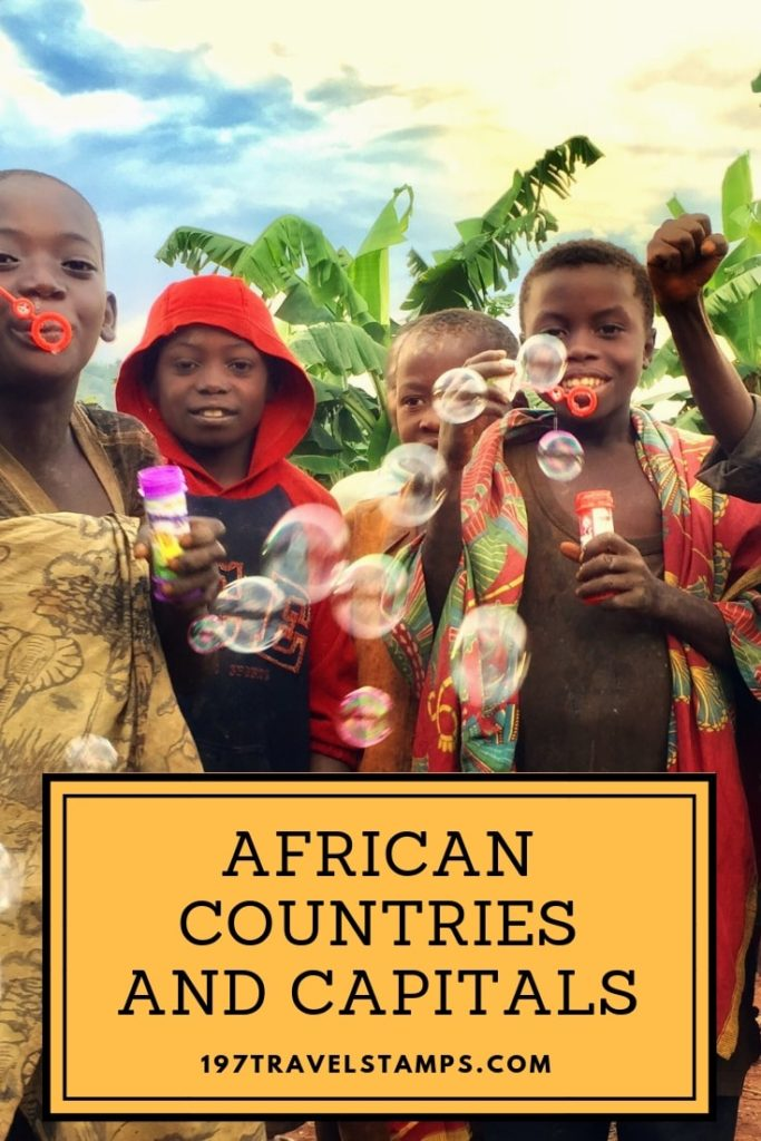 Alphabetical list of all African countries and capitals