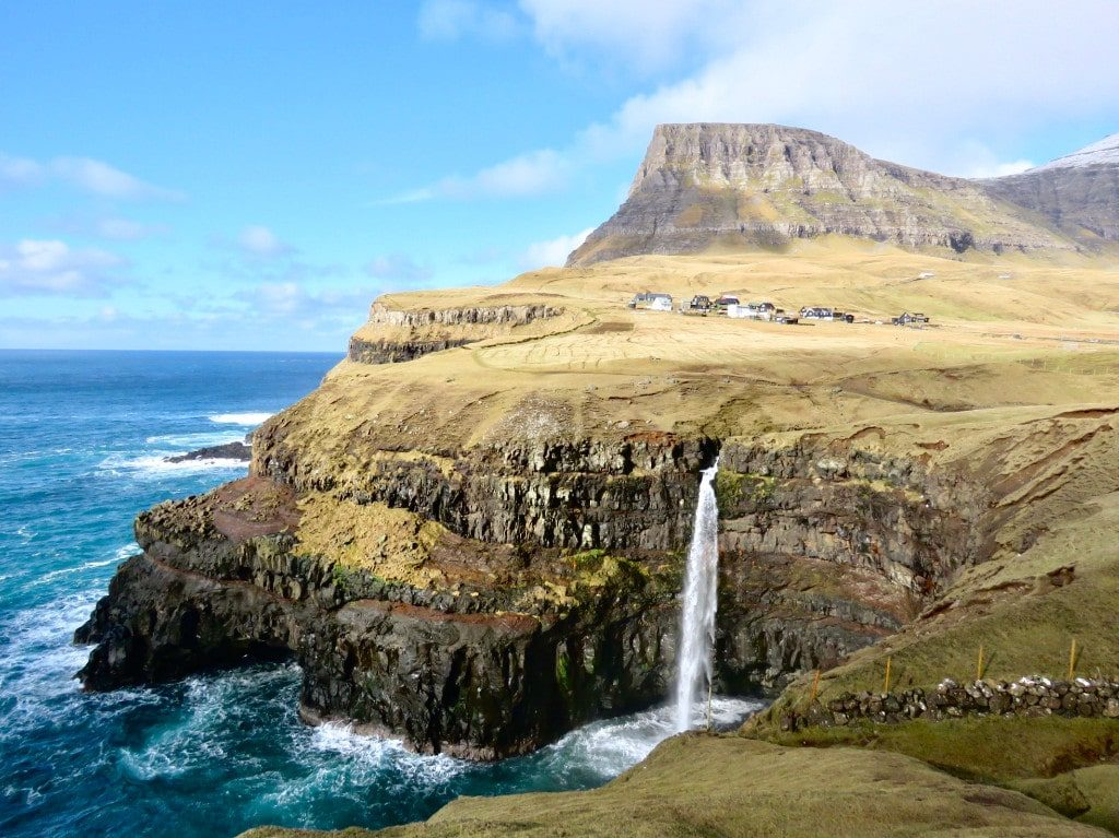 Mulafossur waterfall one of the best things to do in the faroe islands
