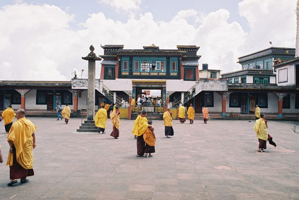 Rumtek Monastery not far from Gangtok is a great place to witness the culture of Sikkim