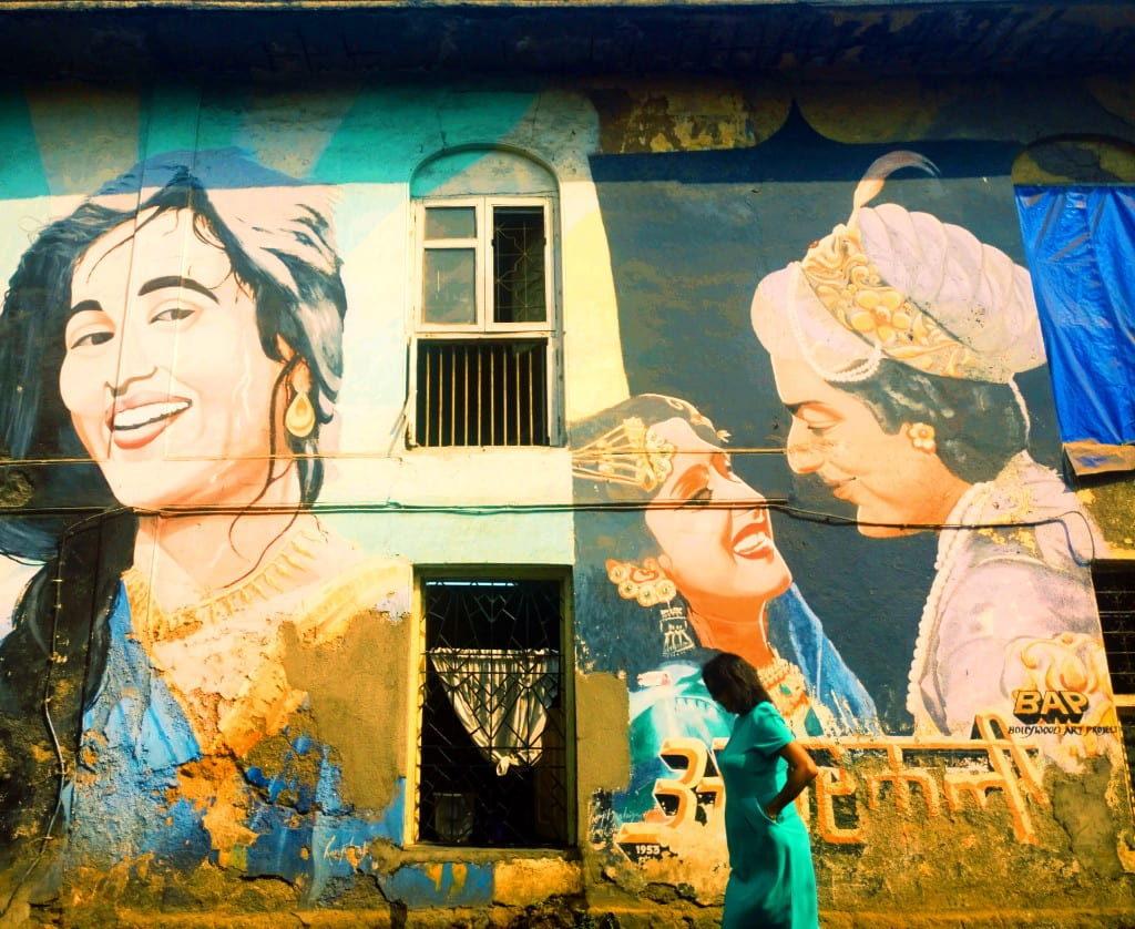 A graffiti wall at Bandra in Mumbai