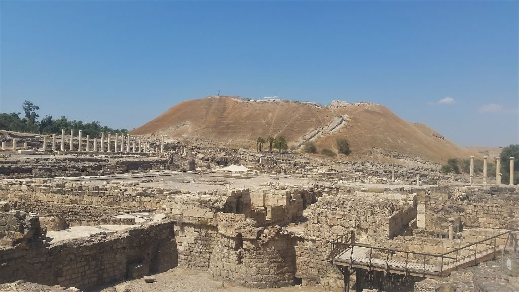 Archeological sites at Beth Shean