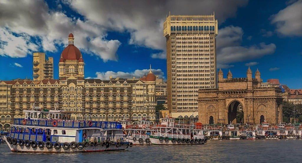 Gateway of India and Taj Mahal Palace Hotel