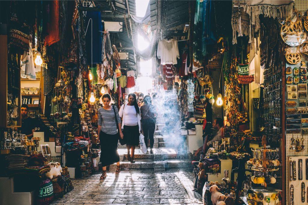 Street scene in Jerusalem market
