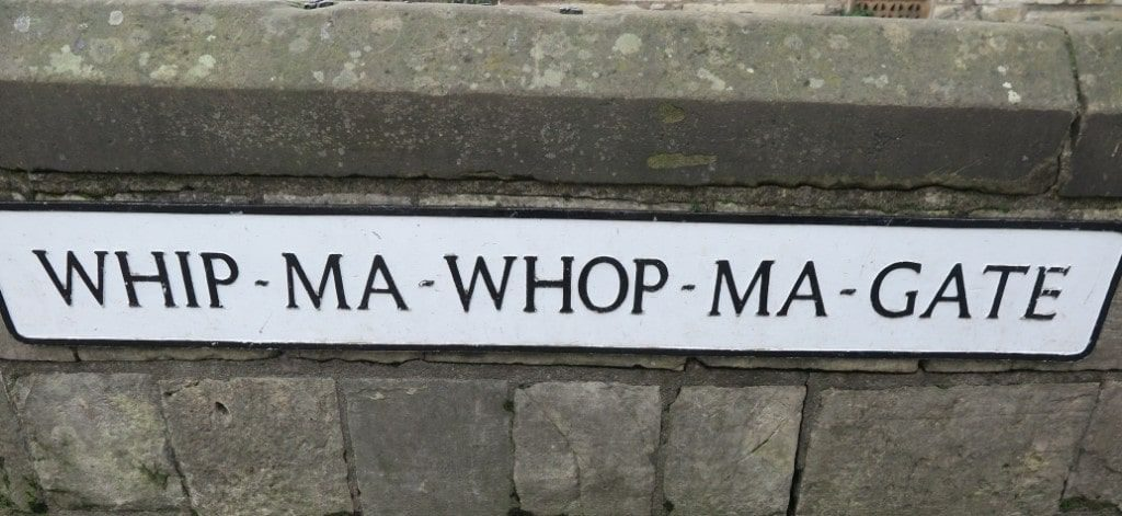 Whip-Ma-Whop-Ma-Gate Street in York, England