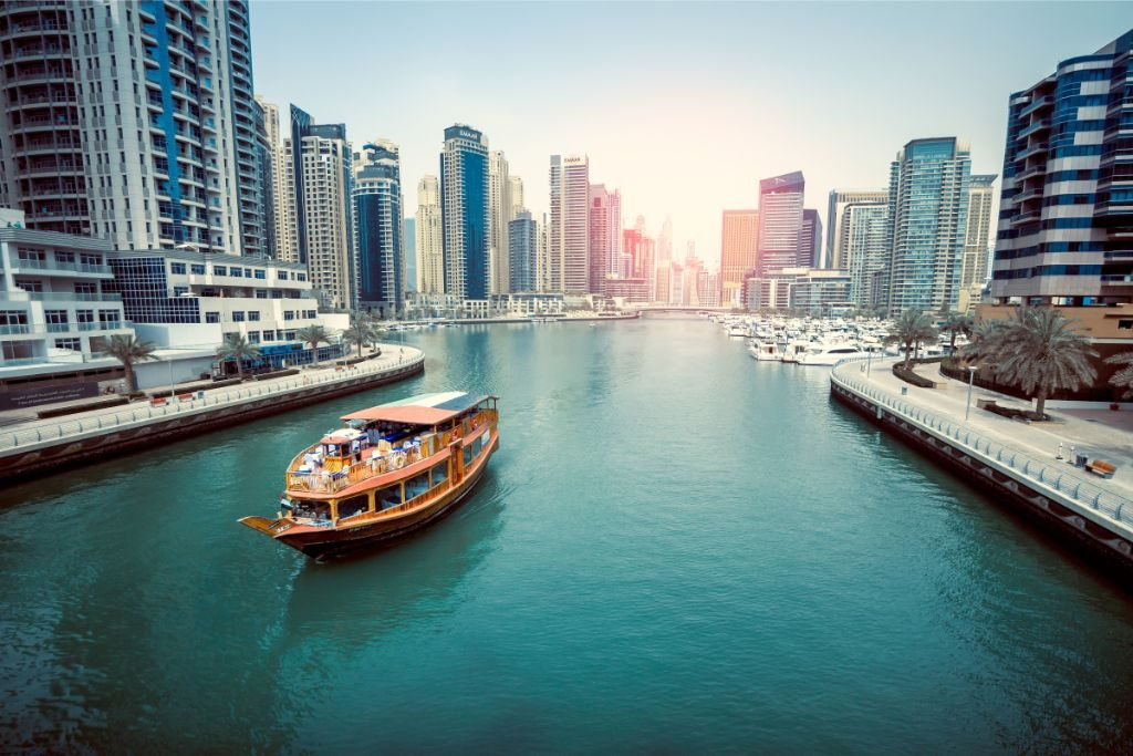 Marina is the best area to stay in Dubai for nightlife
