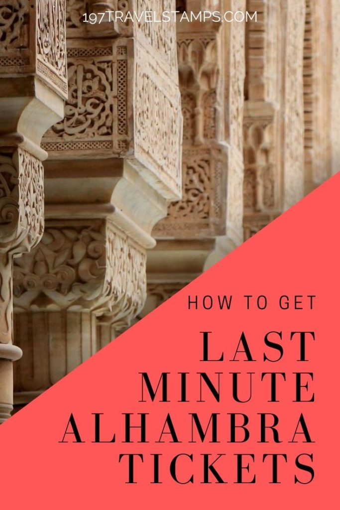 Alhambra Granada tickets - how to buy them when they are sold out on the official website. How to get same day Alhambra tickets