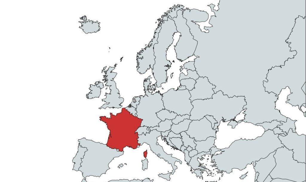 Blank Map of Europe Quiz - Question 1