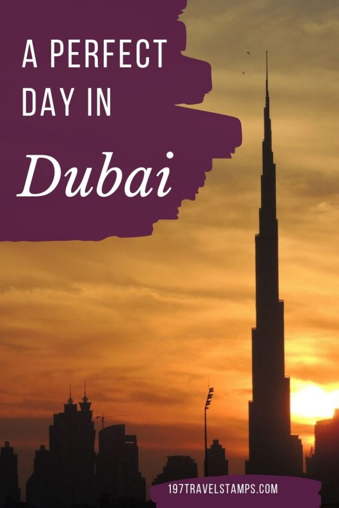 Dubai in a day - The perfect Dubai itinerary if you are short on time. All the things to do if you only have one day in Dubai. Burj Khalifa, Burj al Arab, Jumeirah Beach, Dubai Mall and much more