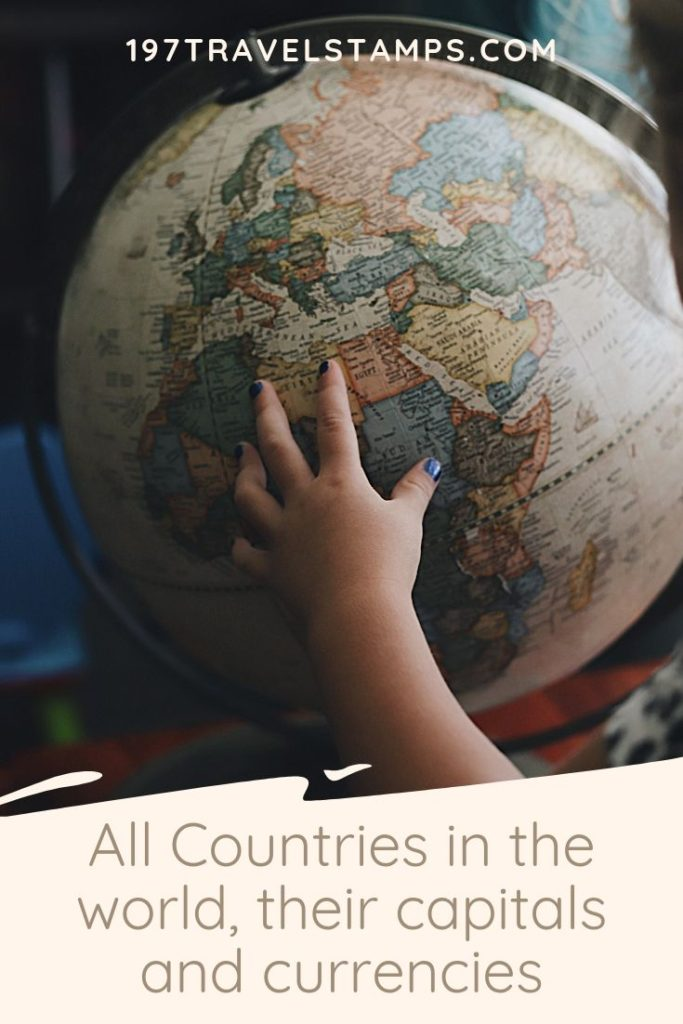 List of all Countries and Capitals and Currencies of the World. Including helpful PDF files to download. Perfect if you need to study or prepare for a test.