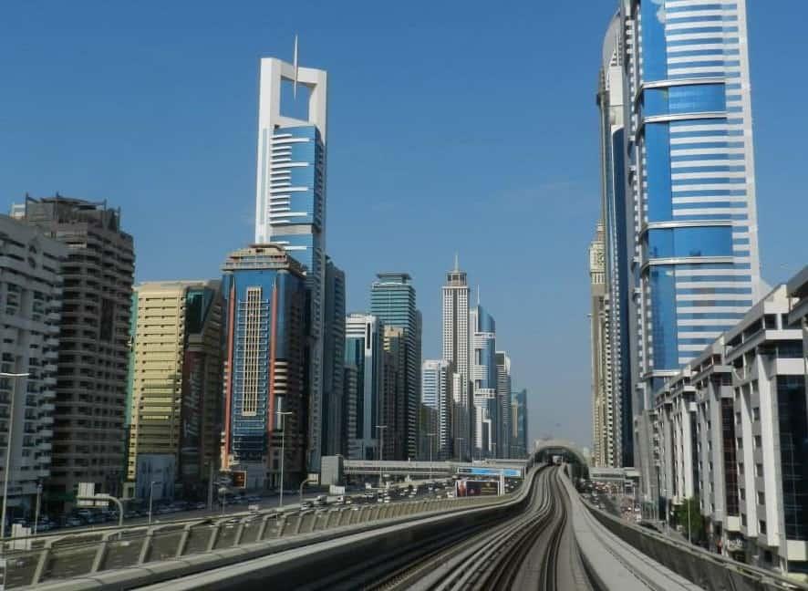 Metro Ride along Sheikh Zayed Road